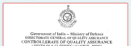 Directorate General Of Quality Assurance, Ministry of Defence, Government Of India.